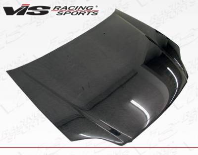 VIS Racing - Carbon Fiber Hood OEM Style for Honda Civic 2DR & 4DR 99-00