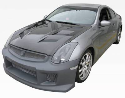 VIS Racing - Carbon Fiber Hood AMS Style for Infiniti G35 2DR 03-07