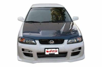 VIS Racing - Carbon Fiber Hood Invader Style for Nissan Sentra 4DR 00-03