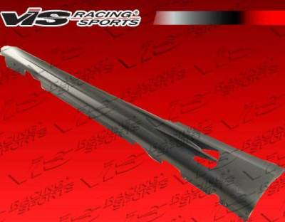 VIS Racing - 2007-2013 Bmw E92 2Dr Rsr Side Skirts With Carbon Trim
