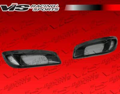VIS Racing - 2010-2012 Hyundai Genesis Coupe Pro Line Carbon Fiber Foglight Garnishes
