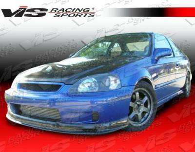 VIS Racing - 1996-1998 Honda Civic 2Dr/4Dr/Hb Type S Carbon Fiber Lip