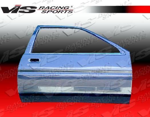VIS Racing - Carbon Fiber Door OEM Style for Toyota Corolla  2DR & Hatchback 84-87
