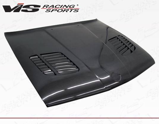 VIS Racing - Carbon Fiber Hood GTR Style for BMW 3 SERIES(E30) 2DR & 4DR 84-91