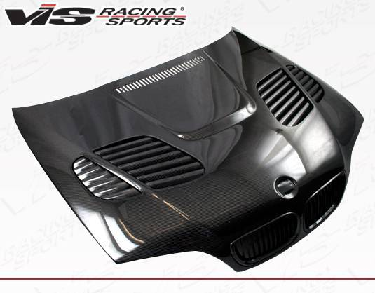 VIS Racing - Carbon Fiber Hood GTR Style for BMW 3 SERIES(E46) 4DR 02-05