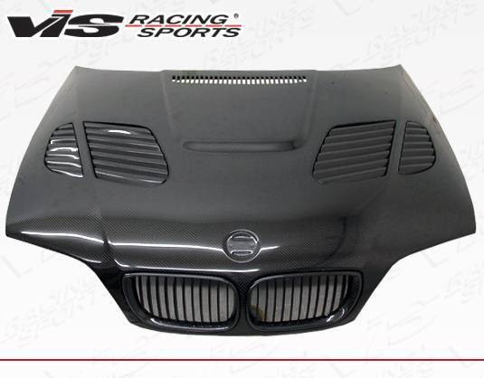 VIS Racing - Carbon Fiber Hood GTR Style for BMW 3 SERIES(E46) 4DR 99-01