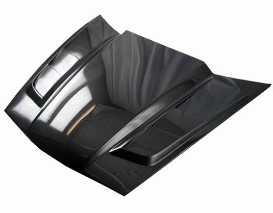VIS Racing - Carbon Fiber Hood SCV Style for Chevrolet Corvette 2DR 05-13