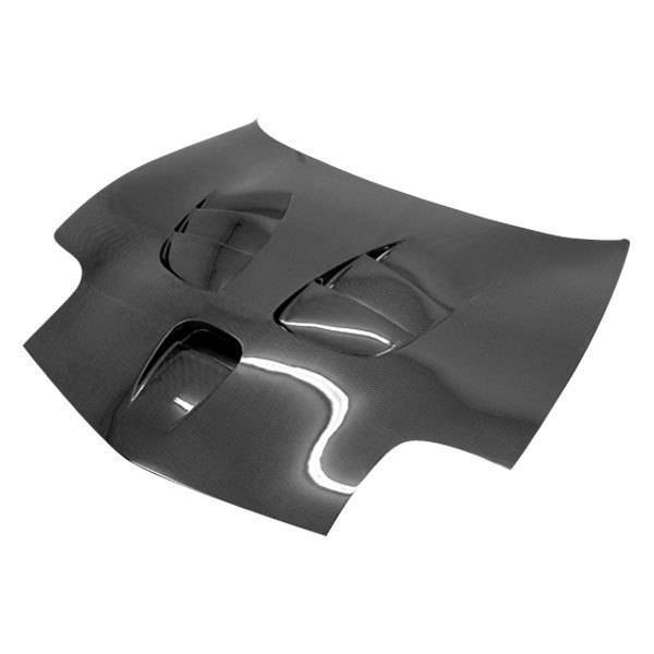VIS Racing - Carbon Fiber Hood Fuzion Style for Chevrolet Corvette 2DR 97-04