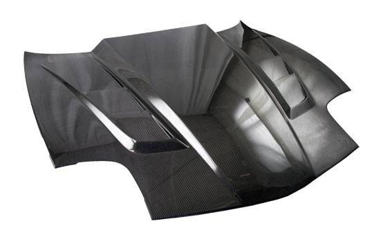 VIS Racing - Carbon Fiber Hood SCV Style for Chevrolet Corvette 2DR 97-04
