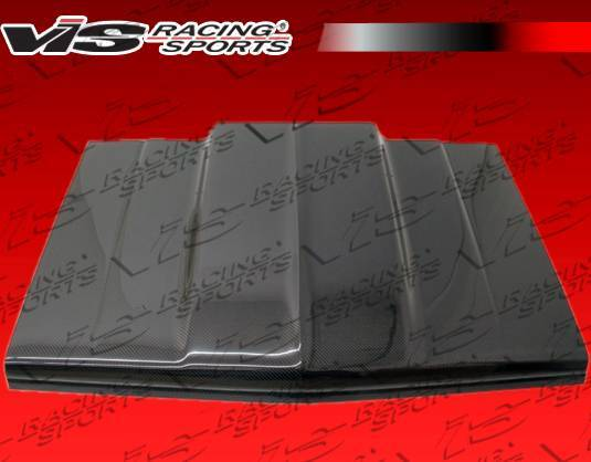 VIS Racing - Carbon Fiber Hood Cowl Induction Style for Chevrolet S10 2DR 82-93