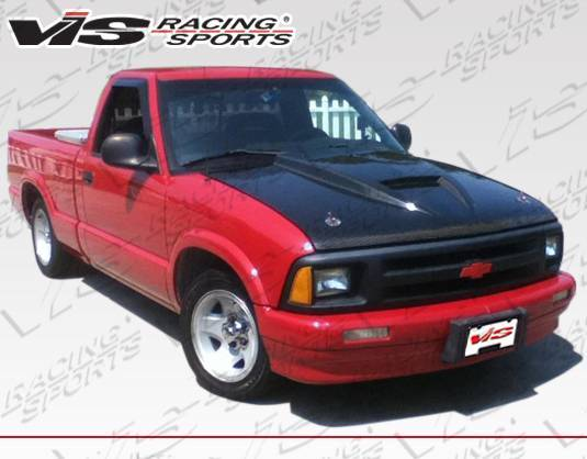 VIS Racing - Carbon Fiber Hood Ram Air Style for Chevrolet S10 2DR 94-04