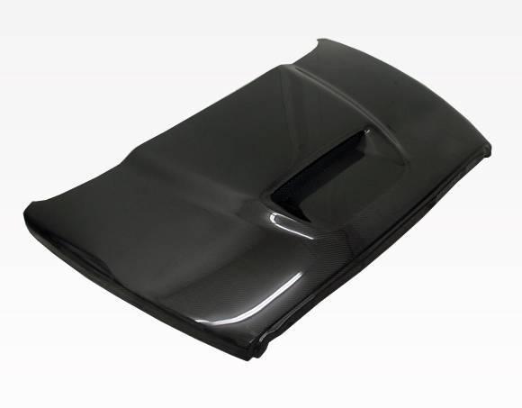 VIS Racing - Carbon Fiber Hood SRT  Style for Dodge Ram 2DR & 4DR 02-08