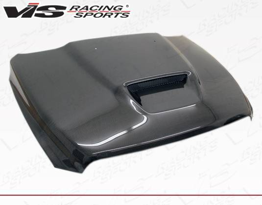 VIS Racing - Carbon Fiber Hood SRT  Style for Dodge Ram 1500 2DR & 4DR 2009-2018
