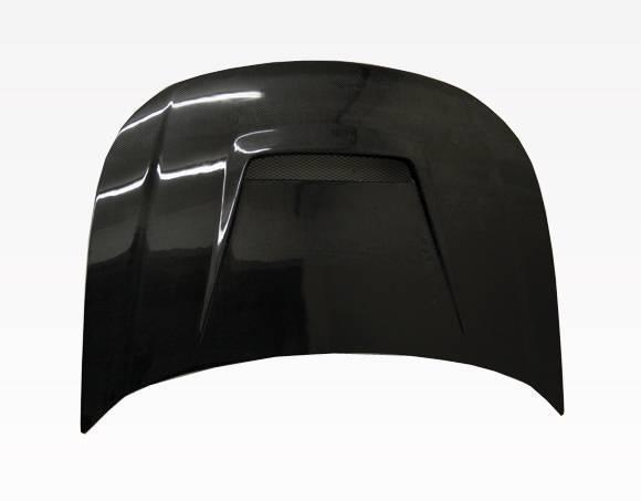 VIS Racing - Carbon Fiber Hood Invader Style for Ford Focus 2DR & 4DR 08-11