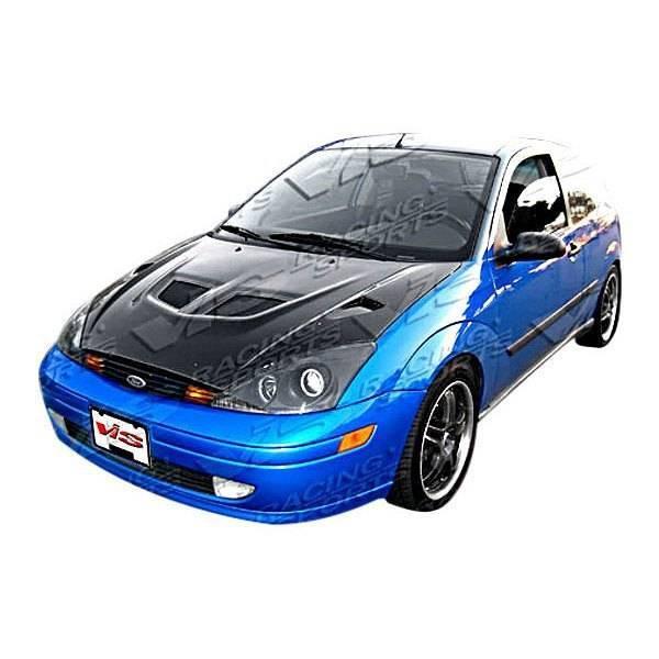 VIS Racing - Carbon Fiber Hood EVO Style for Ford Focus 2DR & 4DR 00-04