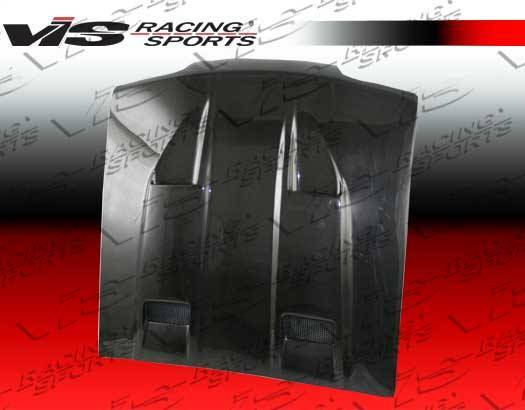 VIS Racing - Carbon Fiber Hood Mach 5 Style for Ford MUSTANG 2DR 94-98