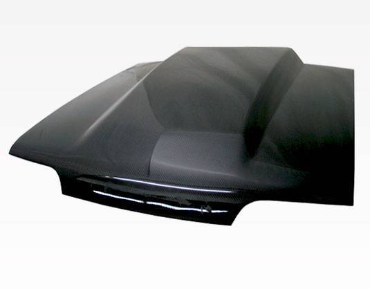 VIS Racing - Carbon Fiber Hood Cowl Induction Style for Ford MUSTANG 2DR 87-93