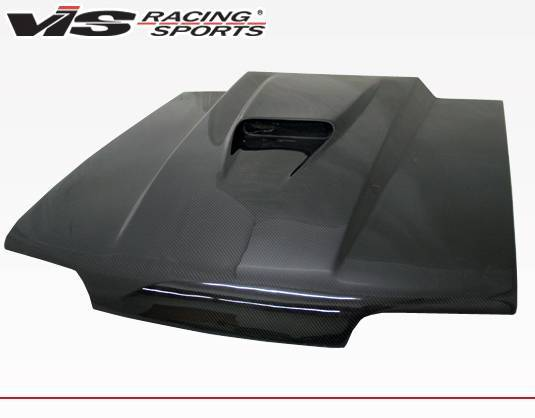 VIS Racing - Carbon Fiber Hood SS Style for Ford MUSTANG 2DR 87-93