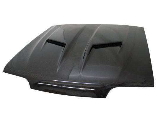 VIS Racing - Carbon Fiber Hood Stalker 2 Style for Ford MUSTANG 2DR 87-93