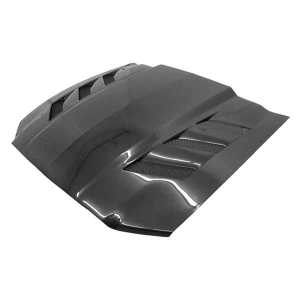 VIS Racing - Carbon Fiber Hood AMS Style for Ford MUSTANG 2DR 13-14