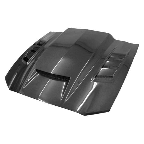 VIS Racing - Carbon Fiber Hood Terminator Style for Ford MUSTANG 2DR 13-14