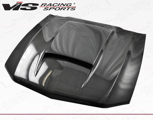 VIS Racing - Carbon Fiber Hood Stalker Style for Ford MUSTANG 2DR 10-12