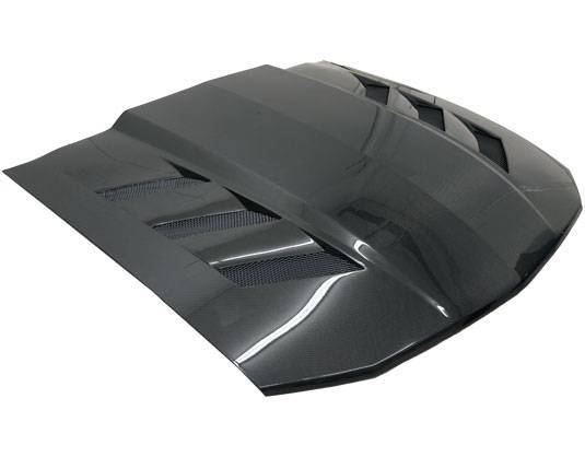 VIS Racing - Carbon Fiber Hood AMS Style for Ford MUSTANG 2DR 05-09