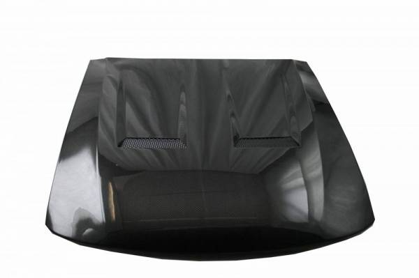 VIS Racing - Carbon Fiber Hood Heat Extractor Style for Ford MUSTANG 2DR 99-04