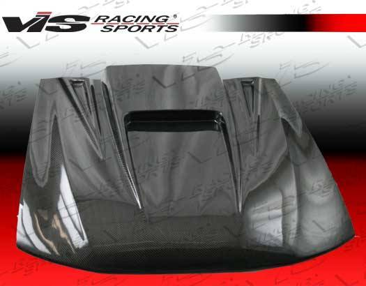 VIS Racing - Carbon Fiber Hood ZD Style for Ford MUSTANG 2DR 99-04