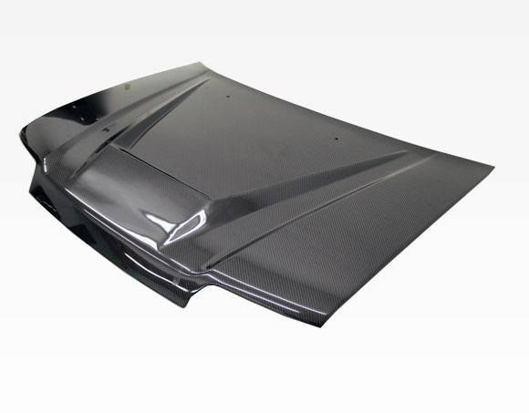 VIS Racing - Carbon Fiber Hood Invader Style for Honda Civic 4DR 88-91