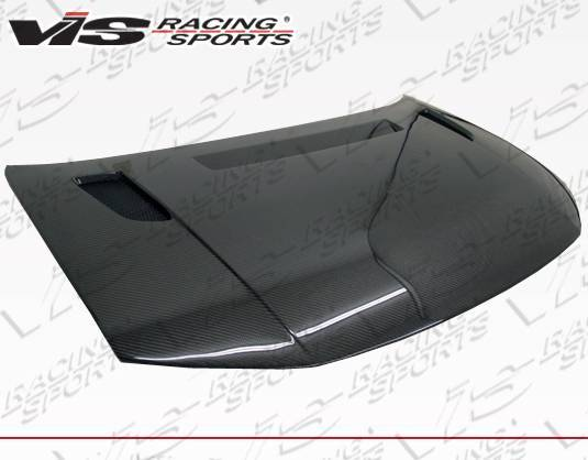 VIS Racing - Carbon Fiber Hood RVS Style for Honda Civic 2DR 12-13