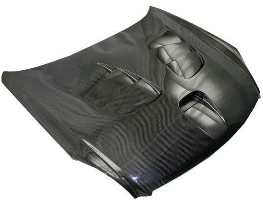 VIS Racing - Carbon Fiber Hood Fuzion Style for Infiniti G35 2DR 03-07