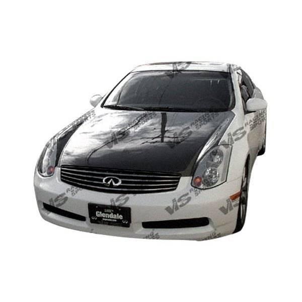 VIS Racing - Carbon Fiber Hood OEM Style for Infiniti G35 2DR 03-07