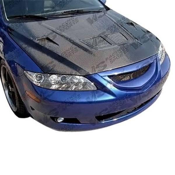 VIS Racing - Carbon Fiber Hood EVO Style for Mazda 6 4DR 03-08