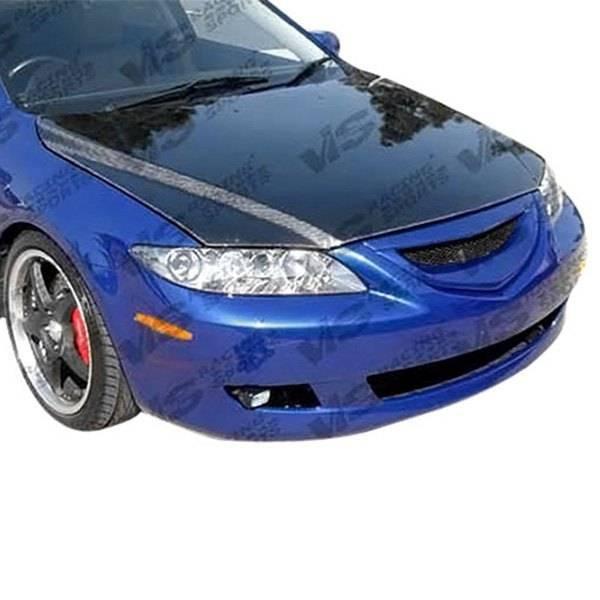 VIS Racing - Carbon Fiber Hood OEM Style for Mazda 6 4DR 03-08