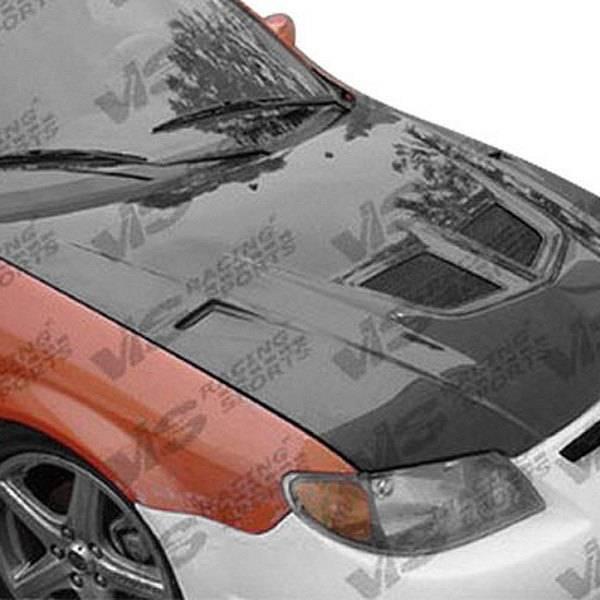 VIS Racing - Carbon Fiber Hood EVO Style for Mazda Protege 5 4DR 02-03