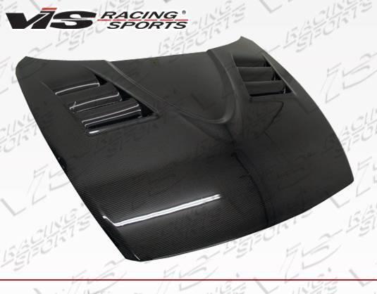 VIS Racing - Carbon Fiber Hood V-Speed Style for Mazda RX8 2DR 2004-2012