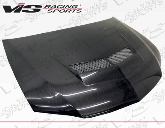 VIS Racing - Carbon Fiber Hood Invader 2 Style for Mitsubishi EVO 8 4DR 03-05