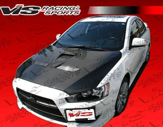 VIS Racing - Carbon Fiber Hood EVO 10 Style for Mitsubishi Lancer 4DR 2008-2017