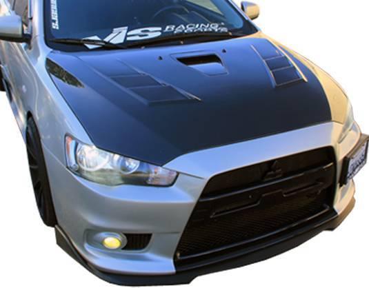 VIS Racing - Carbon Fiber Hood Terminator GT Style for Mitsubishi Lancer 4DR 08-16
