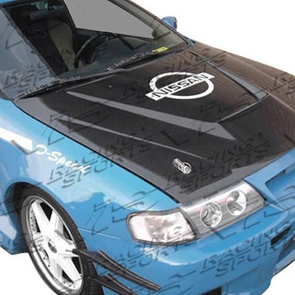 VIS Racing - Carbon Fiber Hood Invader Style for Nissan 200SX 2DR 95-99