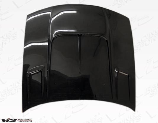VIS Racing - Carbon Fiber Hood Drift 2 Style for Nissan 240SX 2DR 97-98