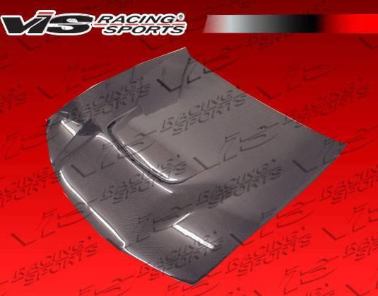 VIS Racing - Carbon Fiber Hood JS Style for Nissan 240SX 2DR 97-98