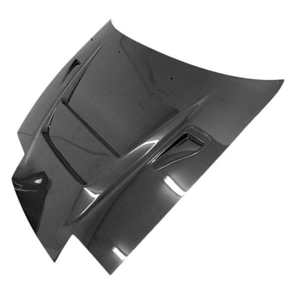 VIS Racing - Carbon Fiber Hood A Spec Style for Nissan 240SX 2DR & Hatchback 89-94