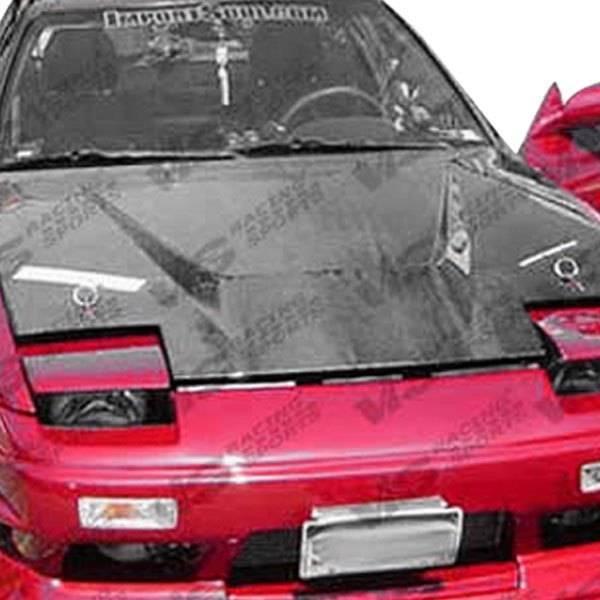 VIS Racing - Carbon Fiber Hood Invader Style for Nissan 240SX 2DR & Hatchback 89-94