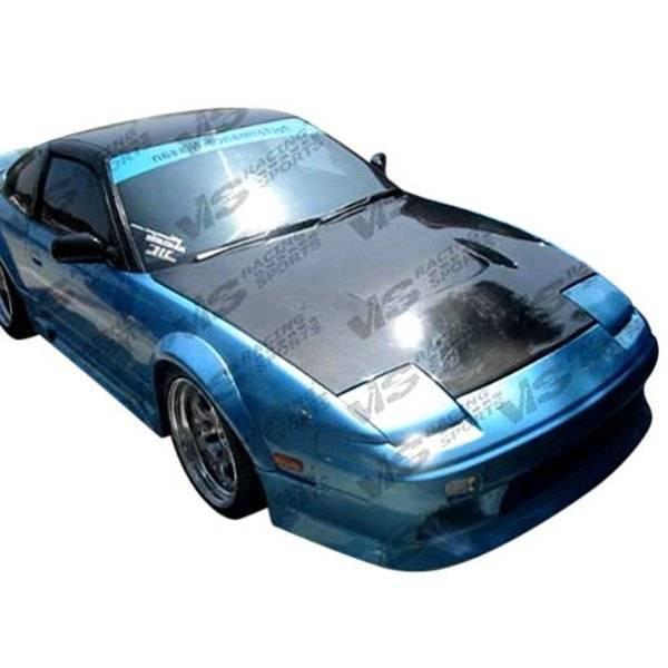 VIS Racing - Carbon Fiber Hood JS Style for Nissan 240SX 2DR & Hatchback 89-94