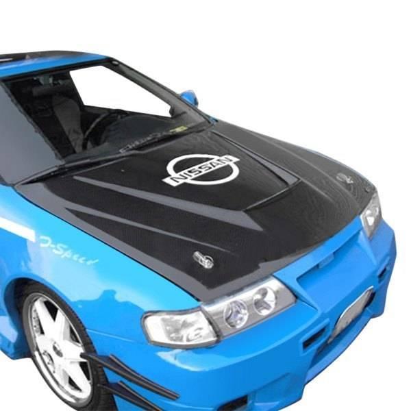 VIS Racing - Carbon Fiber Hood Invader Style for Nissan Sentra 4DR 95-99