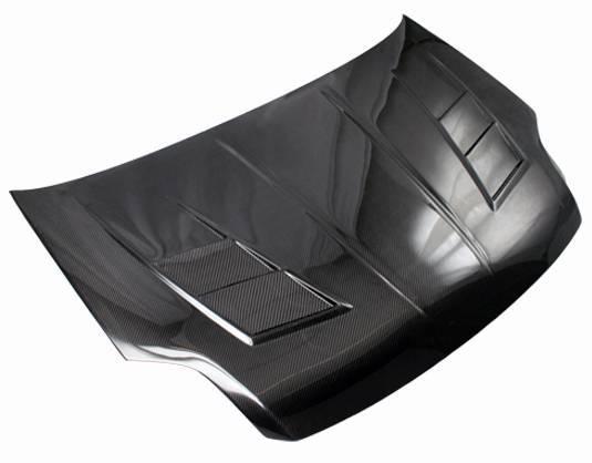 VIS Racing - Carbon Fiber Hood Terminator Style for Nissan Sentra 4DR 07-12