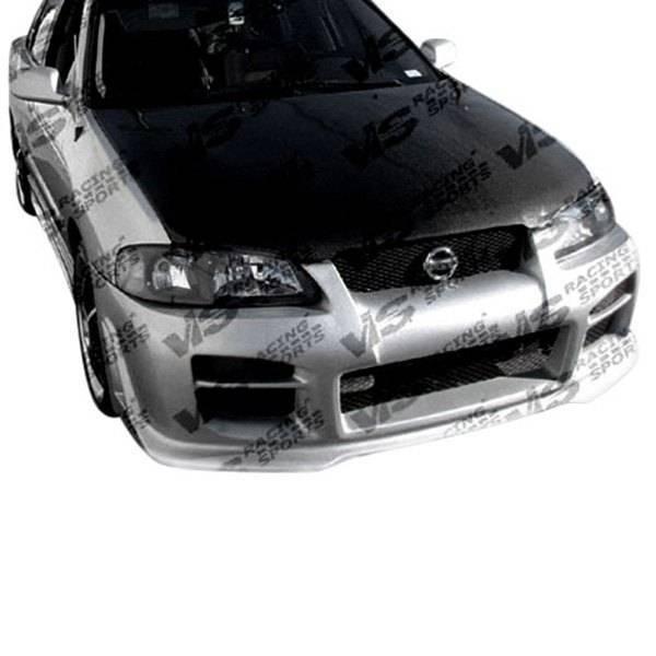 VIS Racing - Carbon Fiber Hood OEM Style for Nissan Sentra 4DR 00-03