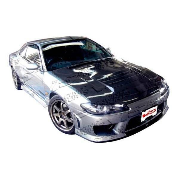 VIS Racing - Carbon Fiber Hood Drift Style for Nissan SILVA S15 2DR 99-02